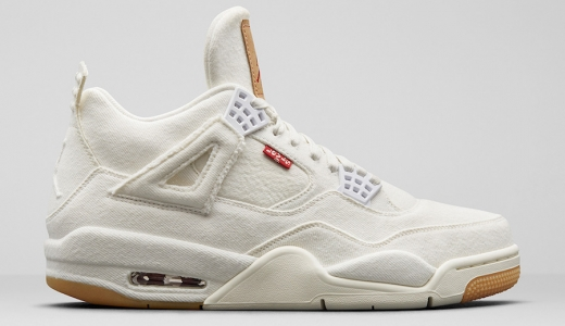 Levi's x Air Jordan 4 GS White Denim