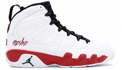 Air Jordan 9 White Red