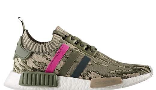 adidas WMNS NMD R1 Primeknit Green Night Shock Pink