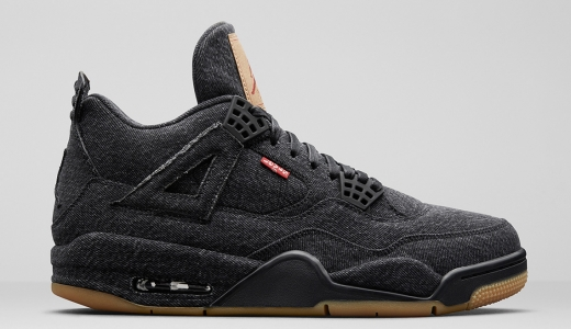 Levi's x Air Jordan 4 GS Black Denim