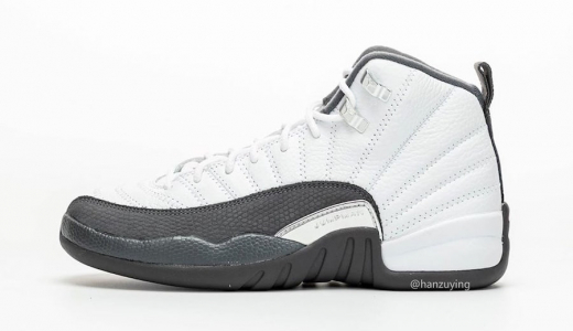 Air Jordan 12 White Grey