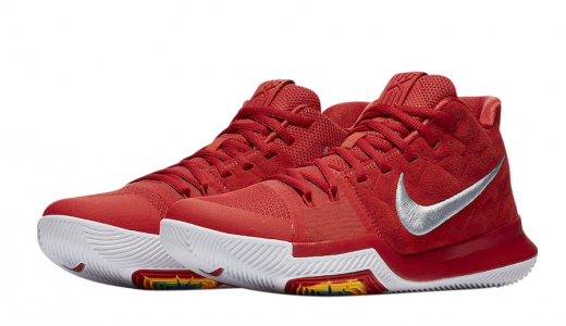 Nike Kyrie 3 University Red Suede