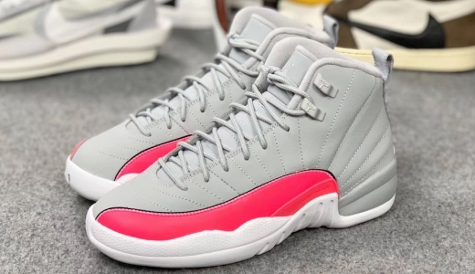 Air Jordan 12 GS Grey Pink
