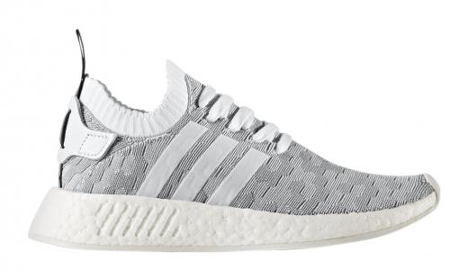 adidas NMD R2 Primeknit White Grey