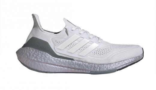adidas Ultra Boost 2021 Crystal White Hazy Green
