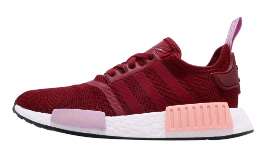 adidas WMNS NMD R1 Collegiate Burgundy Clear Orange
