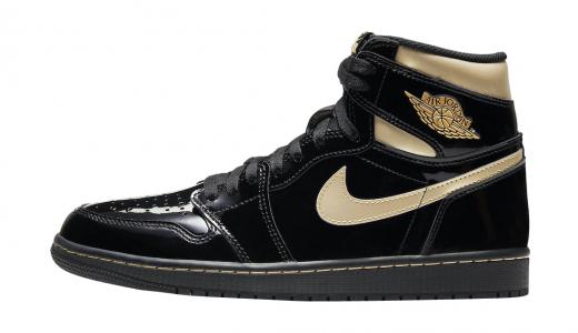 Air Jordan 1 High OG Black Metallic Gold