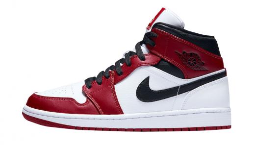 Air Jordan 1 Mid Chicago White Heel