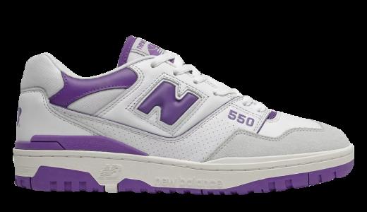 New Balance 550 White Purple