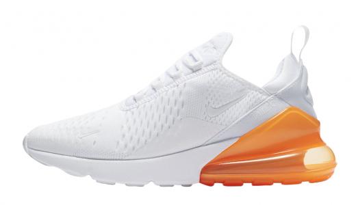 Nike Air Max 270 White Total Orange
