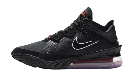 Nike LeBron 18 Low Black University Red