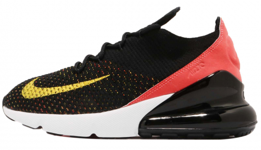 Nike WMNS Air Max 270 Flyknit Black Yellow Strike